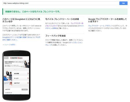 下の画像は弊社のWebサイトのテスト結果です。